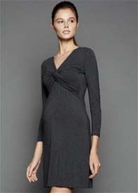 Queen Bee Charcoal Knot Front Maternity/Nuring Dress by Dote Nursingwear