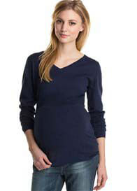 Queen Bee Space Blue Maternity Knit Pullover by Esprit