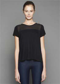 Queen Bee Rowena Back Drape Breastfeeding Top in Black by Dote Nursingwear