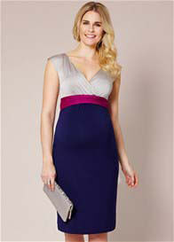 Queen Bee Jewel Block Maternity Dress in Eclipse by Tiffany Rose