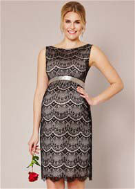 Queen Bee Audrey Black Lace Maternity Cocktail Dress by Tiffany Rose