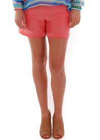 Queen Bee Roxey Maternity Shorts in Coral by Everly Grey