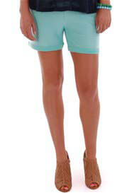 Queen Bee Roxey Maternity Short in Mint Blue by Everly Grey