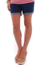 Queen Bee Roxey Maternity Short in Indigo Blue by Everly Grey