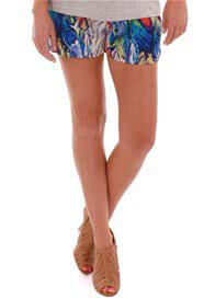 Queen Bee Noel Maternity Short in feather print by Everly Grey