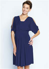 Queen Bee Navy Split Sleeve Maternity/Nursing Dress by Maternal America