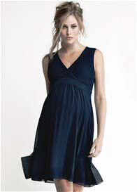 Queen Bee Lola Maternity Cocktail Dress in Blue by Noppies