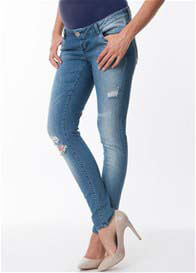 Queen Bee Ripped Maternity Skinny Jeans by Seraphine