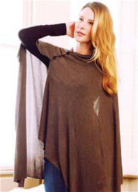 Queen Bee Breastfeeding Bamboo Shawl in Brown by Seraphine