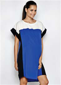 Queen Bee Blue Colourblock Maternity Dress by Imanimo