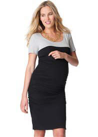 Queen Bee Ruched Bodycon Maternity T-Shirt Dress by Seraphine