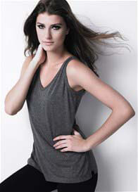 Queen Bee Classic Nursing Tank Top in Charcoal Grey by Dote Nursingwear