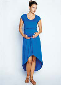 Queen Bee Hi-Low Maternity/Nursing Dress in Royal Blue by Maternal America