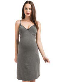 Queen Bee Suus Maternity/Nursing Nightdress in Grey by Noppies