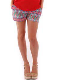 Queen Bee Noel Maternity Shorts in Aztec Print by Everly Grey