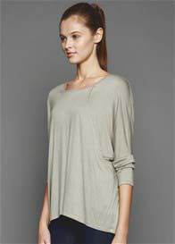 Queen Bee Gillian Nursing T-Shirt in Sage by Dote Nursingwear