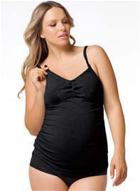 Queen Bee Black Espresso Gelato Maternity Nursing Tank by Cake Lingerie