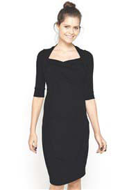 Queen Bee Stella Sweetheart Maternity Dress in Black by Imanimo