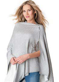 Queen Bee Reversible Bamboo Nursing Shawl in Grey Polkadot by Seraphine