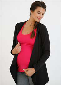 Queen Bee Maternity Wrap Hoodie in Black by Belabumbum