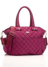 Queen Bee Bobby Quilted Baby Nappy Bag in magenta by Storksak