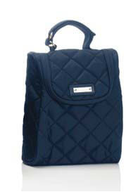 Queen Bee Quilted FAB 'Food & Bottle' Bag in Navy Blue by Storksak