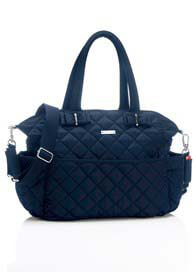 Queen Bee Bobby Quilted Baby Nappy Bag in Navy Blue by Storksak