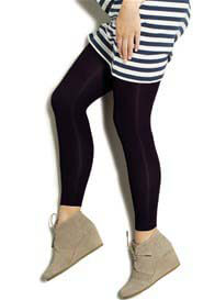 Queen Bee Maternity Light Gradient Compression Leggings in Eggplant by Preggers
