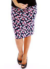 Queen Bee Isabelle Floral Print Maternity Skirt by Trimester Clothing