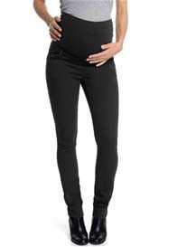 Queen Bee Black Slim Straight Cotton Maternity Pants by Esprit