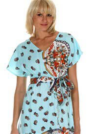 LIL Designs - Messina Maternity Kaftan in Baby Blue