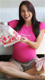 Queen Bee Tickled Pink Maternity Tee by 2 chix