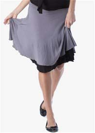 Seraphine - Reversible Skirt in Grey/Black - ON SALE