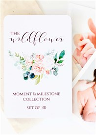Blossom & Pear - Baby Milestone Cards in Wildflower