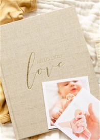 Blossom & Pear - Hello Little Love Pregnancy & Baby Journal in Fawn