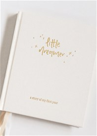 Emma Kate Co - Little Dreamer Baby Journal in Cloud Cream