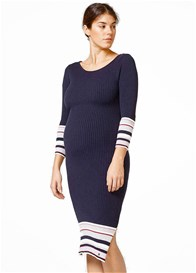Esprit - Border Trim Ribbed Dress