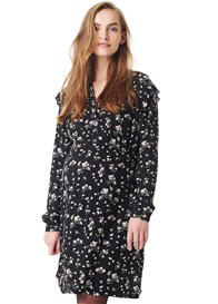 3b086bdb5dd Esprit - Viscose Nursing Dress in Black Floral