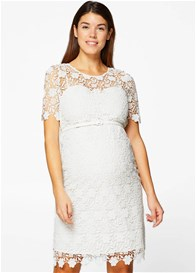 Esprit - White Lace Occasion Dress w Belt