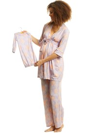 Everly Grey - Analise Mommy & Me PJ Gift Set in Lilac Boho