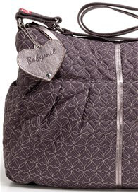 Queen Bee Amanda Quilted Baby Nappy Bag in Pewter by Babymel