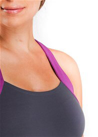 Queen Bee Ivy Maternity Active Workout Tank Top in Steel by Via Privé