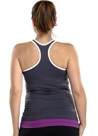 Queen Bee Tiger Lily Maternity Active Fitness Tank in Steel by Via Privé