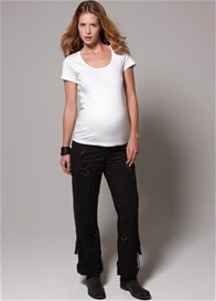 Queen Bee Basic Short Sleeve Maternity Tee (Black or White) by Esprit