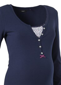 Queen Bee Elise L/S Maternity/Nursing Henley in Navy Blue by Noppies
