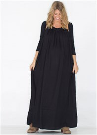 Queen Bee That Was Then Black Maternity Maxi Dress by Fillyboo