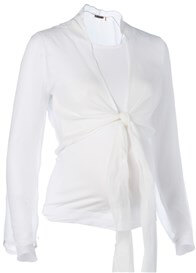 Queen Bee Sheer Wrap Silk Maternity Cardigan by Noppies