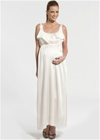 Queen Bee Nathalie Maternity/Nursing Evening Dress in Ecru by Pomkin