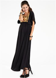 Queen Bee Bring On The Night Maxi Maternity Dress by Fillyboo
