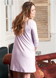 Queen Bee Tahlia Lilac Maternity/Nursing Hospital Gown by Floressa Clothing